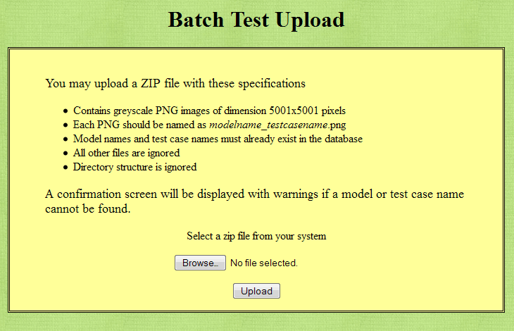 MapScore batch upload screen. New Nov. 2013.