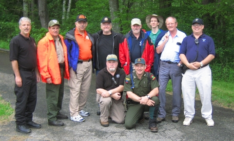 Detection in the Berkshires. Back row: Andy Petrie, Bob Rando, George Rice, Ken Hill, Pete Roberts, Charles Twardy, Dave Perkins, Rick Toman Seated: Dan O'Connor, Joe Hess. Not shown: Jack Frost, Art Allen